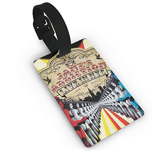 WYeter Jane's Addiction Unique Travel Accessory Luggage ID Tag Name Tags For Luggage Women Men Kids