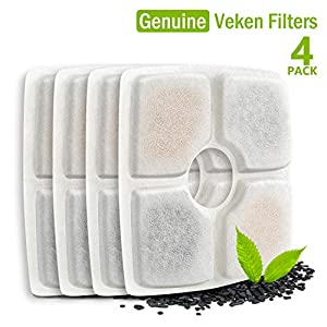 Veken Replacement Filters for 84oz/2.5L Automatic Pet Fountain Cat Water Fountain Dog Water Dispenser 9