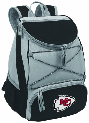 NFL Kansas City Chiefs PTX Insulated Backpack Cooler, Black