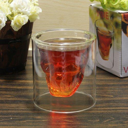 Crystal Skull Vodka Shot Glass Wine Cup 250ml.