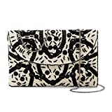 From St Xavier Elma Beaded Evening Clutch, Black/Ivory
