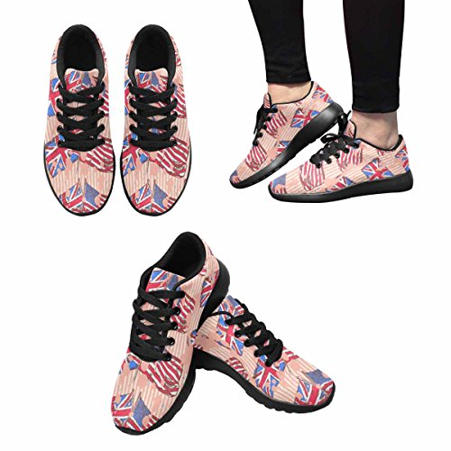 Interestprint Mujeres Jogging Running Sneaker Ligero Go Easy Walking Comodidad Deportes Running Zapatos Multi 3