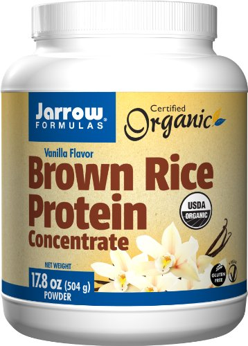 Jarrow Formulas Brown Rice Protein Concentrate, Vanilla Flavor, 17.8 Ounce