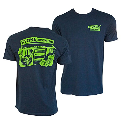 Brewing Co T-shirt - Stone Brewing Co. Beers For Your Block Navy Tee Shirt X-Large