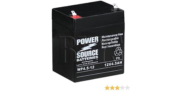 12V4A 6140-01-407-8928 12V 5Ah F1 AGM Battery replaces PS-1240 ELK-1250 RB1242 12CE4 CFM12V4.6 PS-1250F PS-1245 NB12-5 GP1245 F1 RB1250 PS-1250 F1 CF-12V4.5 ELB 1250A BP4.5-12 T1 12CE5