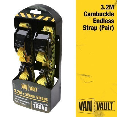 Van Vault Polyester Webbing Endless Strap 3.2M X 25Mm S10679 (Pair)