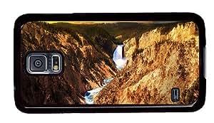 Hipster Samsung Galaxy S5 Case original yellowstone national park usa PC Black for Samsung S5