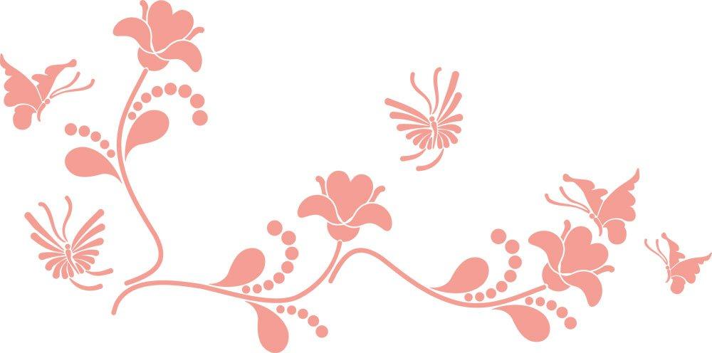 GRAZDesign Wall Tattoo Blaumen - Wanddekoration Wandtattoo Wandtattoo Wandtattoo Ornament - Wanddeko Wandtattoo Blaumenranke - Wandtattoo Schmetterling   101x50cm   azurblau   850109_50_052 B01LXNZZDV Wandtattoos & Wandbilder 4f68c2
