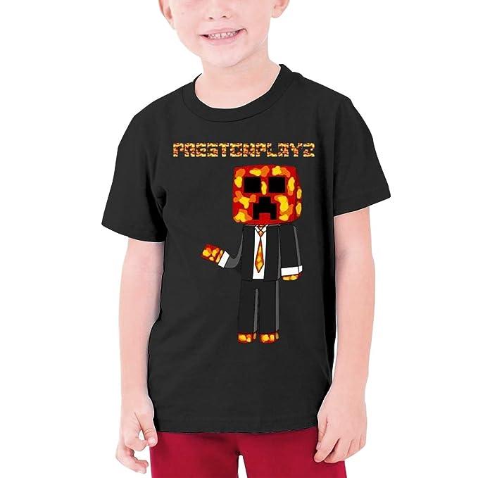 Amazon com: PrestonPlayz-Art Boy Short Sleeve T-Shirt for