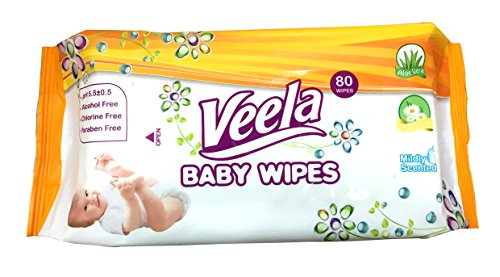 Veela Baby Wipes , SUPER VALUE 1920 wipes (24 packs of 80 count) BULK BUY