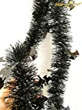 ShinyBeauty 4 Pieces Metallic Tinsel Christmas Garland, Tinsel Garland for Door Window Halloween Party Decoration TG005