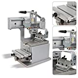 Manual Pad Printing Machine Kit Pad Printer Sealed Ink Cup System,Horizontal Stroke 150 mm, Vertical Stroke of Rubber Head 60mm