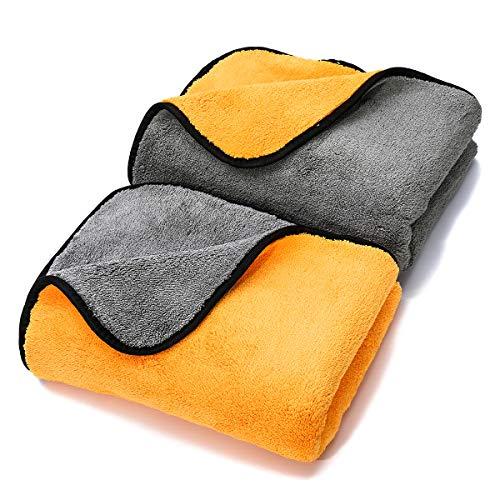 MATCC Microfiber Drying Towel (23 x 35) Car Drying Towel Ultra-Thick Lint Free Auto Detailing Towel for Car Wash Polishing Waxing (Pack of 2)