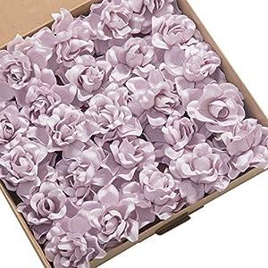 Ling's moment Artificial Flowers 25pcs Lilac Gardenias Flowers w/Stem for DIY Wedding Bouquets Centerpieces Arrangements Party Baby Shower Home Decorations 58