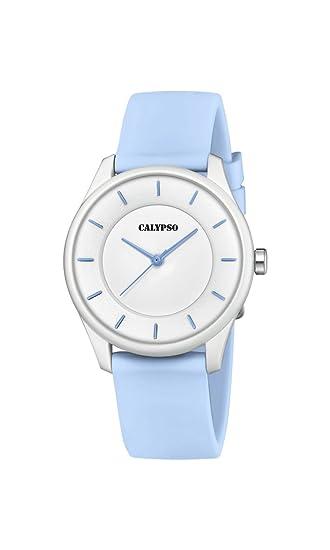 Calypso Reloj Análogo clásico para Unisex de Cuarzo con Correa en Plástico K5733/3: Amazon.es: Relojes