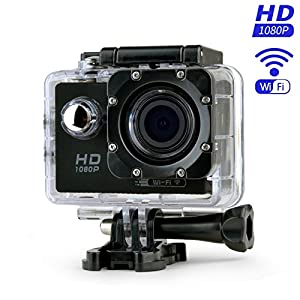 XF TIMES Action Camera Full HD 1080P 12MP 170 Degree Wide Angle WIFI Sport Waterproof Action Cam