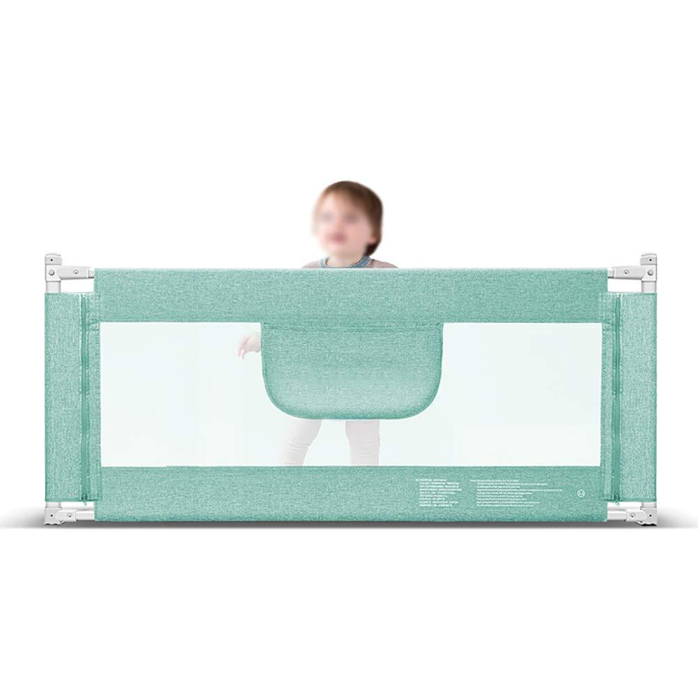 ベッドフェンス エクストラロングベッドレールベビーベッドガード、幼児用安全垂直エレベータフォルドダウンガードレール、高さ85 cm (色 : Green, サイズ さいず : Length 220cm) Length 220cm Green B07M98XG45
