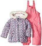 Carter's Little Girls' 2-Piece Heavyweight Printed Snowsuit, Pink Floral, 5/6