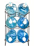 Future BuyZ 5 Gallon Water Bottle Shelf Rack Holder Stand Storage No Assembly Instant Set Up Stainless Steel Heavy Duty Collapsible Sturdy Durable Portable (3 Shelves)