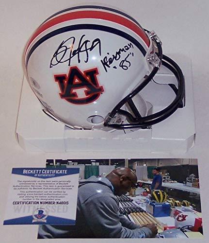 Bo Jackson Autographed Hand Signed Auburn Tigers Mini Football Helmet - with Heisman 85 inscription - BAS Beckett Autographed Auburn Mini Helmet