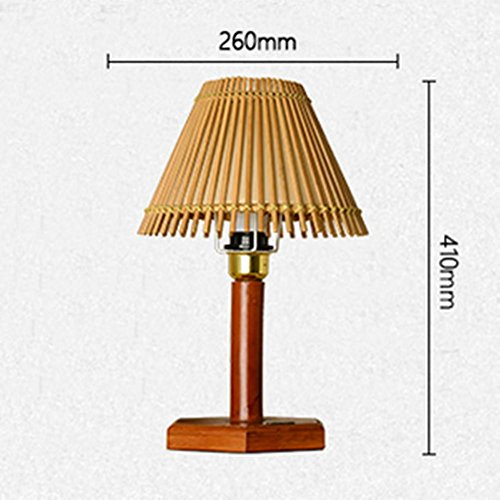 Bamboo Art Led Light Button-Shaped Bamboo Lighting Creative Hotel Bamboo Table Lamp Bedside Lamp Modern Simple Bamboo Lamp (26 41Cm) , A by DMMSS
