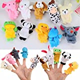 MAUBHYA 10X Farm Zoo Animal Finger Puppets Toys Boys Girls Party Toys