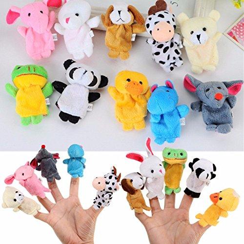 MAUBHYA 10X Farm Zoo Animal Finger Puppets Toys Boys Girls Party Toys by MAUBHYA