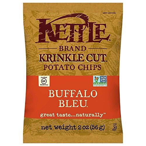 Potato Blue Chips (Kettle Brand Potato Chips, Krinkle Cut Buffalo Bleu, 2 Ounce, 24 Count)