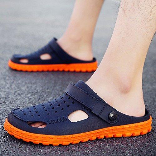 XIAOLIN Zapatillas Hombre Zapatillas de verano Zapatos de hombres Agujeros Hombres Zapatos de playa de doble uso Zapatillas medias de hombres Zapatos de vadeo perezoso (Tamaño opcional) ( Color : 01 , 01