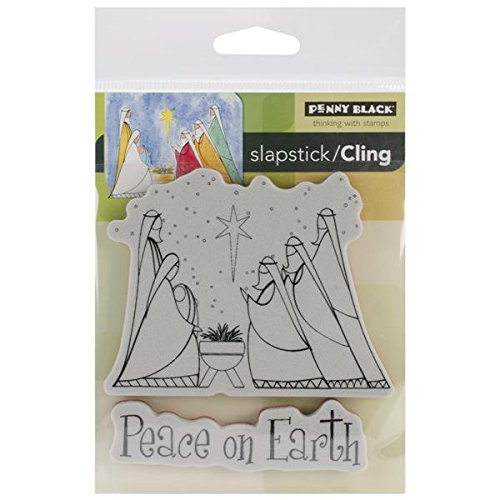Penny Black Peace on Earth Slapstick/Cling Stamps