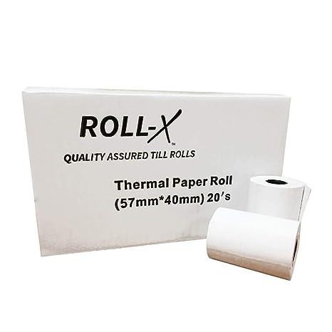 Roll-X Quality Assured Thermal Till Rolls 57mm x 70mm 20 Rolls