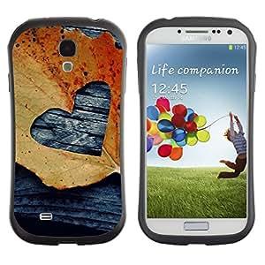 Suave TPU GEL Carcasa Funda Silicona Blando Estuche Caso de protección (para) Samsung Galaxy S4 I9500 / CECELL Phone case / / Leaf Autumn Black Love Deeo /