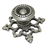 Pack of 5 Antique Pewter Oil Rubbed Metal Pulls Handles Furniture Wardrobes Cabinet Drawer 29 mm Knobs Hardware JMS040