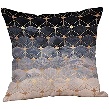 Fxbar Multicolor Geometric Graphics Throw Pillow Case Glitter Sequin Sofa Waist Cushion Covers Home Decor Fashion Design (H)