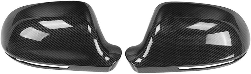 【2 pi/èces】 coque de r/étroviseur en fibre de carbone cadre de r/étroviseur de voiture pi/èce de rechange de r/étroviseur bo/îtier de r/étroviseur adapt/é pour A4 B8 A6 C6 A5 8T Q3 A3 8P Nonporous