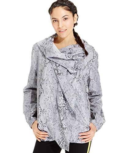 Calvin Klein Womens Snakeskin-Print Hooded Arena Jacket by Calvin Klein