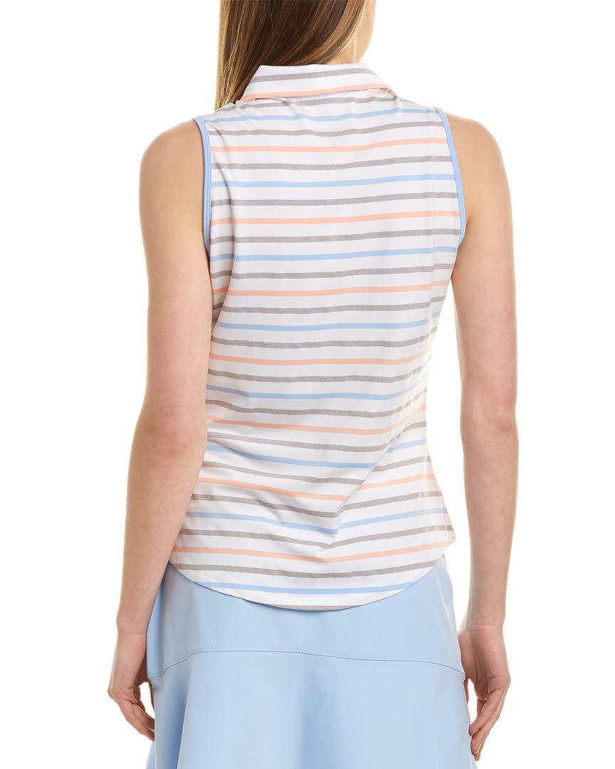 Polo Senza Maniche a Strisce Ultimate Stripe Sleeveless Polo adidas Donna