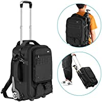 Neewer 2-in-1 Rolling Camera Backpack Trolley Case with...