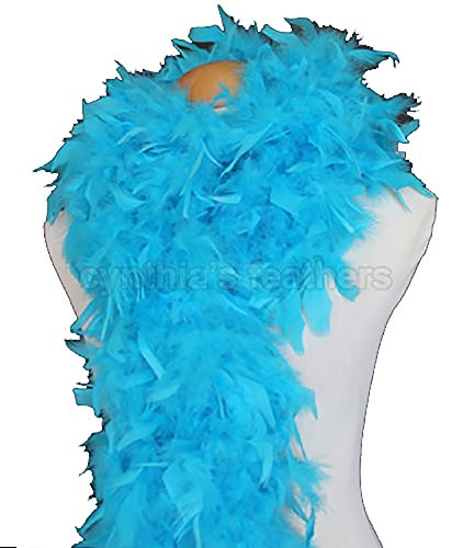 Cynthia's Feathers 80g Turkey Chandelle Feather Boas over 30 Color