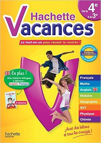 Livre Hachette Vacances de la 4e à la 3e pdf