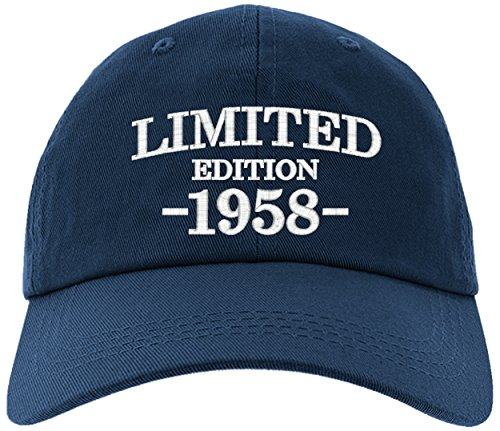 Birthday Limited Edition - Cap 1958-60th Birthday Gift, Limited Edition All Original Parts Baseball Hat 1958-EM-0003-Navy