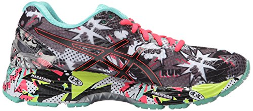 Asics Donne Gel Nimbus 18 Esegue Carbonio Pattino / Nero / Cacatua