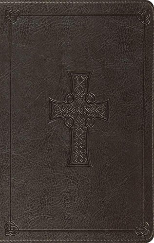 ESV Large Print Thinline Bible (TruTone, Charcoal, Celtic Cross Design) (Esv Bible Celtic Cross)