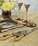Elegant Vintage Rose Wedding Cake Serving Set
