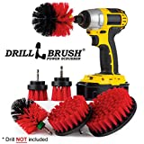 Cleaning Supplies - Drill Brush - The Ultimate Stiff Bristle Cleaning Attachment Kit - Outdoor - Fire Pit - Fountain - Scrub Brush - Garden - Patio - Grout Cleaner - Concrete - Marble - Headstones