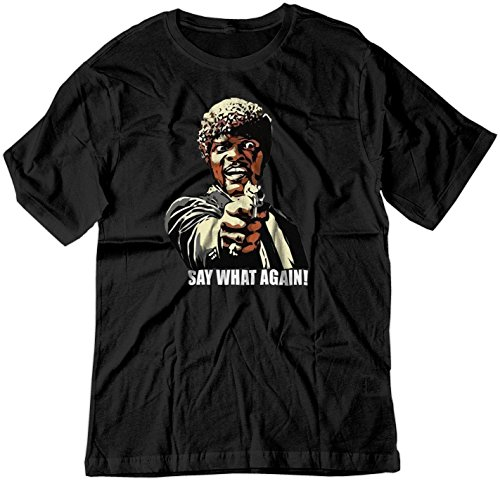BSW Men's Say What Again! Pulp Fiction Jules Samuel L Jackson Shirt MED Black