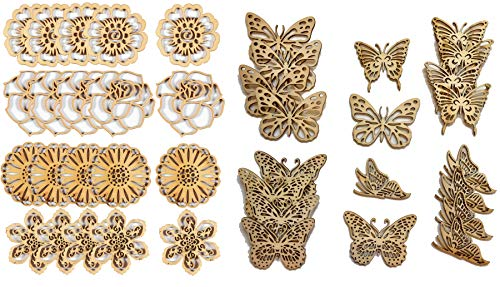 Embellishment Collections by Hot Off The Press | Scrapbooking, Card Making, Papers, Gifts and Home Décor - Inspiration at Your Finger Tips (40 Laser-Cut Wood Pieces) (Scrapbook Laser Cut Scrapbooking)