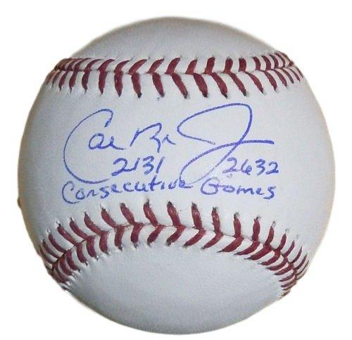 Cal Ripken Jr Autographed Baltimore Orioles Baseball w/2131 2632 Consecutive Games JSA - Cal Ripken Memorabilia