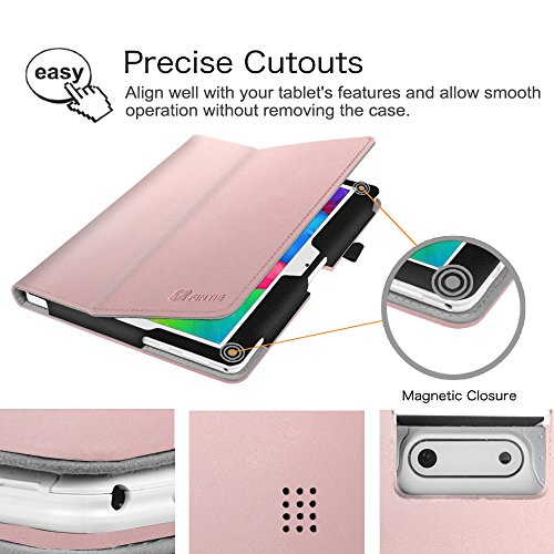 Fintie Case for Yuntab 10.1 (K107/K17), Premium PU Leather Folio Cover with Stylus Holder, Compatible with Wecool 10.1, Tagital 10.1, BEISTA 10.1 (K107/M107), YELLYOUTH 10.1 Inch Tablet, Rose Gold by Fintie (Image #5)