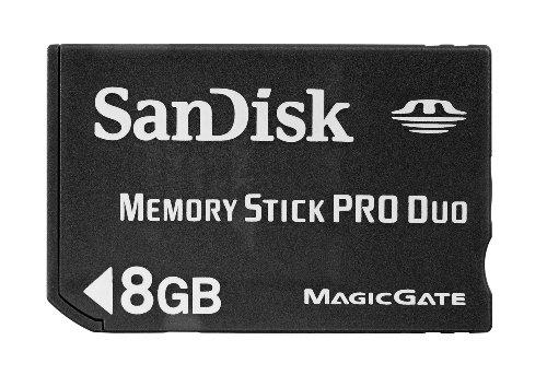 SanDisk Flash 8GB Memory Stick PRO Duo Flash Memory Card  SDMSPD-008G-B35,Black ()